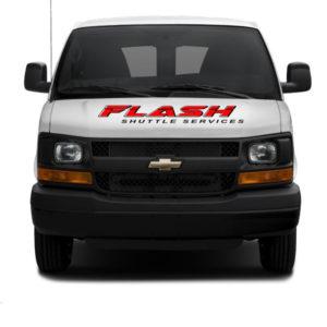 Flash Shuttle Van Closeup