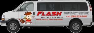 Flash Shuttle Van Side