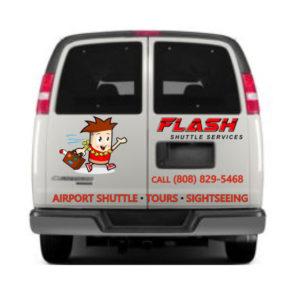 Flash Shuttle Van Back