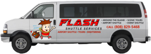 Flash Shuttle Van Left Profile